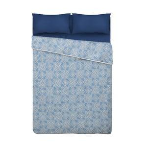 Niebieska narzuta na łóżko z mikrowłókna Unimasa Oriental, 235x260 cm