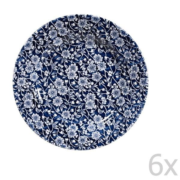 Komplet 6 talerzy Victorian Calico Mint, 20 cm