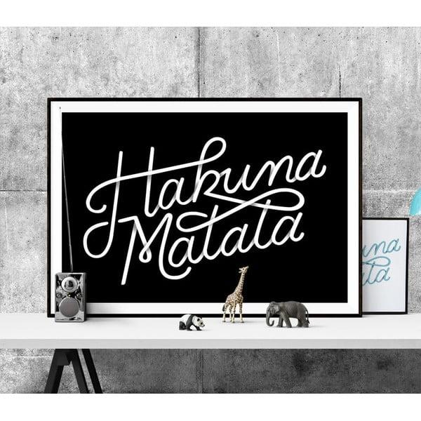 Plakat Hakuna Matata BW, A3