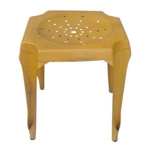 Metalowy stołek Tabouret Jaune
