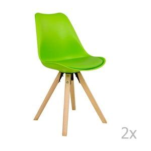 Zestaw 2 zielonych krzeseł House Nordic Bergen
