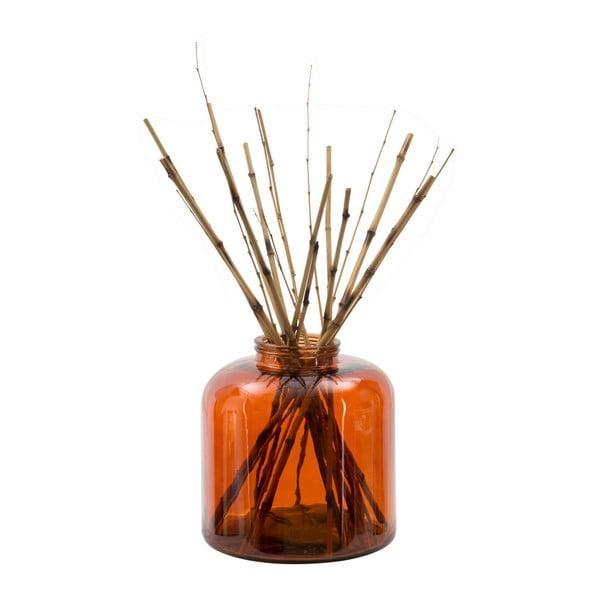 Pomarańczowy wazon ze szkła z recyklingu Mauro Ferretti Put, wys. 36 cm