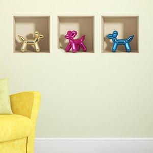 Naklejka 3D Baloons Dogs