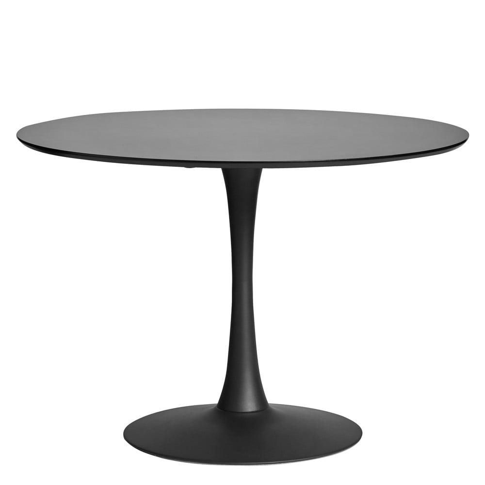 Okrągły czarny stół do jadalni Marckeric Oda, ⌀ 110 cm