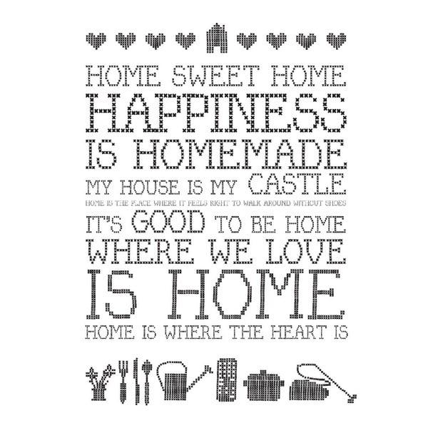 Plakat Home Sweet Home, 30x40 cm