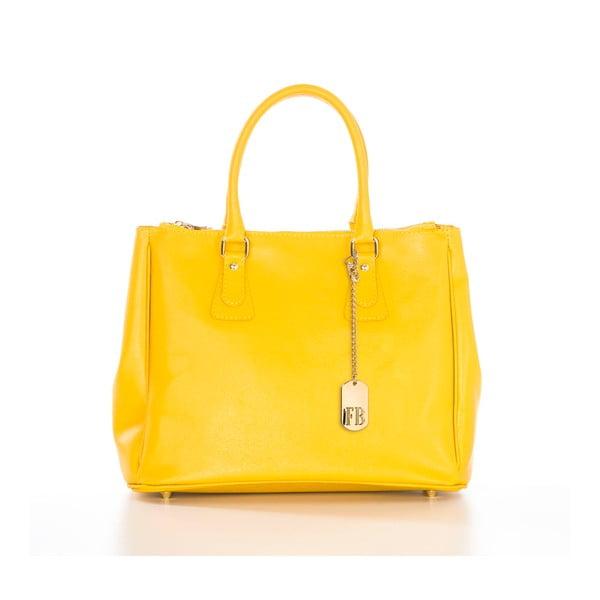 Żółta torebka skórzana Federica Bassi Ano