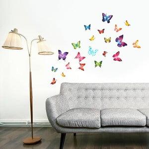 Naklejka ścienna Motyle z elementami Swarovski