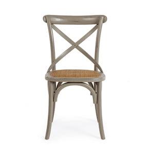 Szare krzesło Bizzotto Cross
