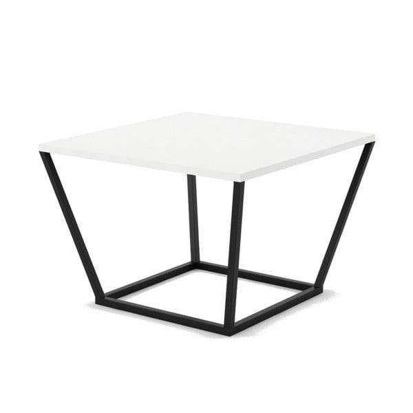 Biały stolik z marmuru z czarną konstrukcją Absynth Noi Brazil, mały