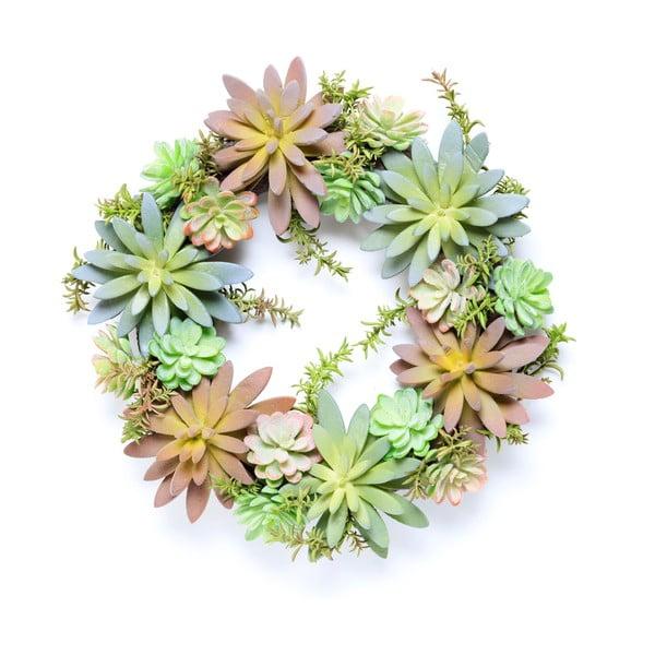 Wieniec ze sztucznych sukulentów Wreath
