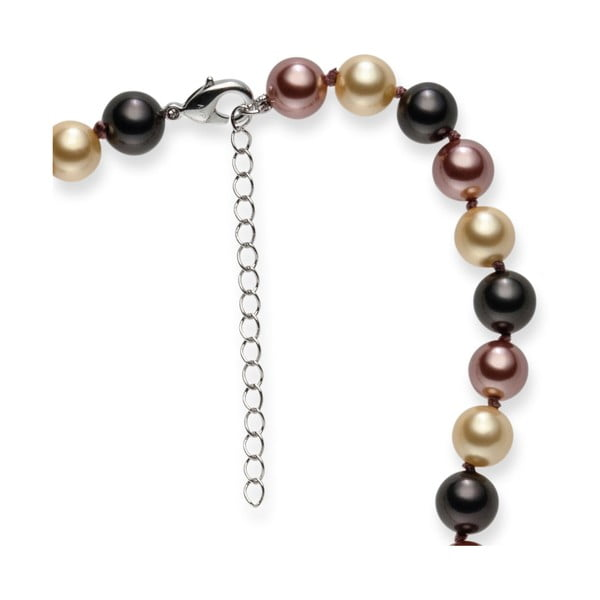 Brązowy   naszyjnik z pereł Pearls of London Mystic, dł. 42 cm