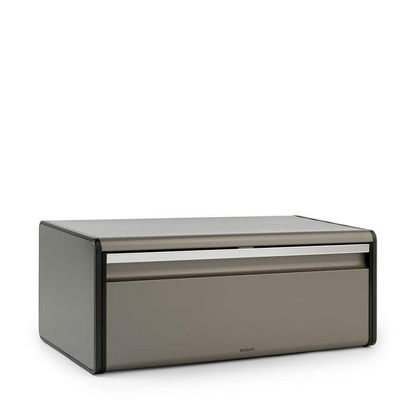 Szary pojemnik na chleb Brabantia Fall Front Platinum