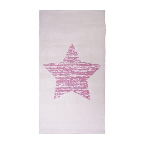 Różowy dywan dziecięcy Nattiot Lucero, 80x150 cm