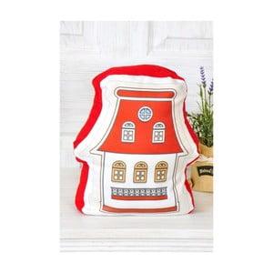 Czerwona   poduszeczka TheMia Retro House, 40x30cm