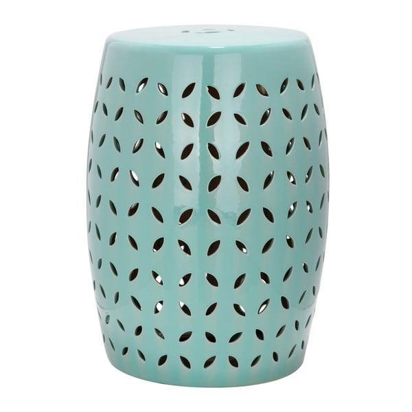 Turkusowy stolik ceramiczny Safavieh Lattice Petal
