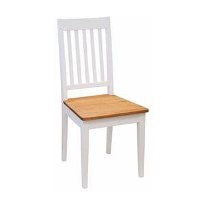 Białe krzesło dębowe Folke Bragi