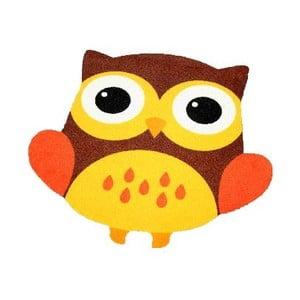 Dywan Owls - brązowo-żółta sowa, 66x66 cm