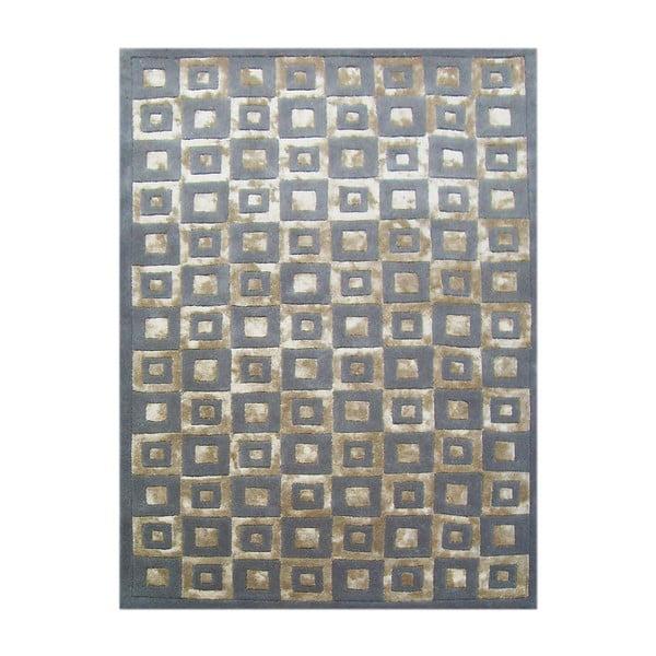 Dywan wełniany Box Grey, 153x244 cm