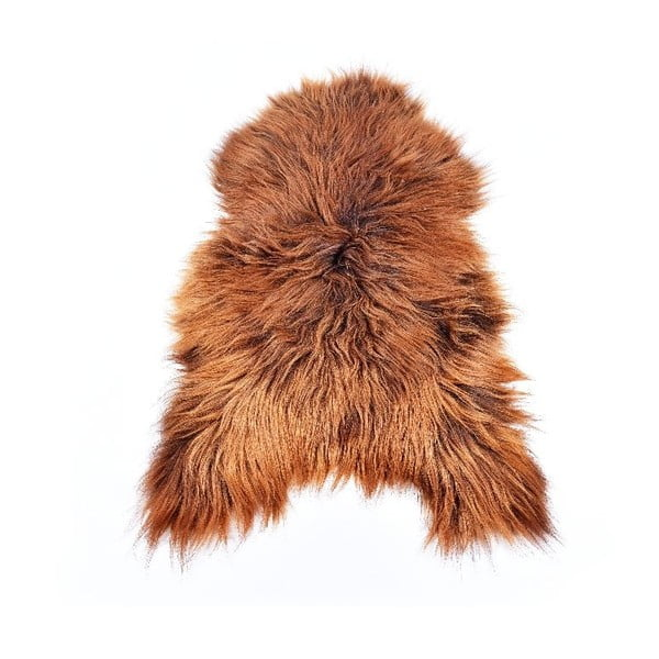 Owcza skóra z długim włosiem Rusty, 110x60 cm