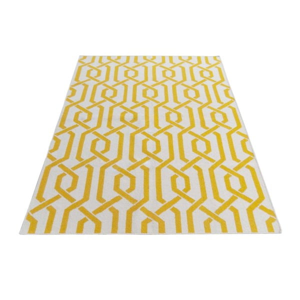 Dywan wełniany Camila Yellow, 120x180 cm