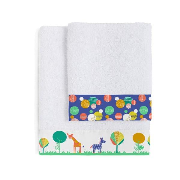 Zestaw 2 ręczników dziecięcych Moshi Moshi Geo Jungle