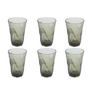 Zestaw 6 szklanek Kaleidos 340 ml, szary
