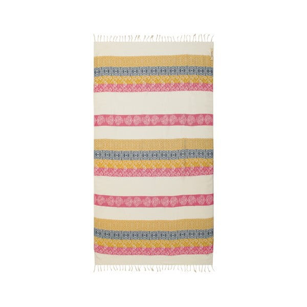 Ręcznik hammam Papyrus Beige Red, 105x175 cm