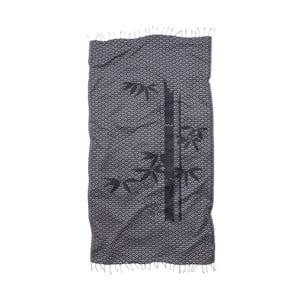 Ręcznik Hamam z bawełny organicznej Seahorse Bamboo, 100x180 cm