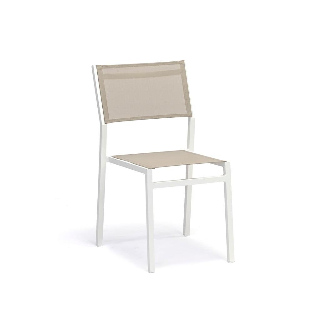 Zestaw 4 szarobeżowych krzeseł ogrodowych Ezeis Zephyr