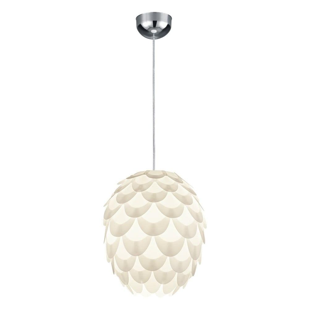 Biała lampa sufitowa Trio Pendant Choke, wys. 36 cm