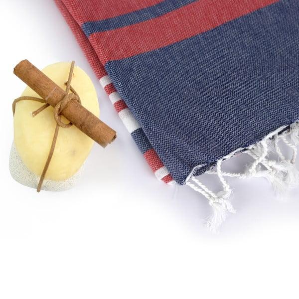 Zestaw 2 ręczników hammam HF Living Lush Red
