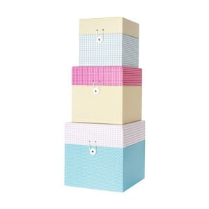 Zestaw 3 pudełek Grid Colour Box