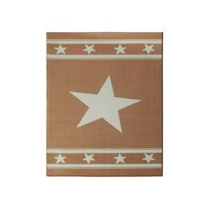 Dywan City & Mix - karmelowy z gwiazdą, 140x200 cm