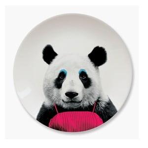 Talerz ceramiczny Just Mustard Panda