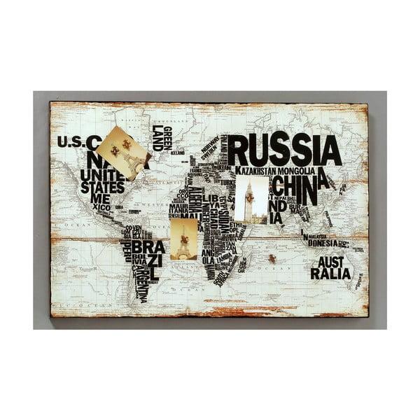 Tablica magnetyczna World, 120x80 cm