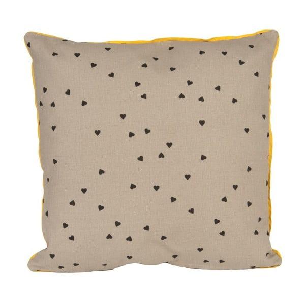 Poduszka Confetti Hearts Grey, 45x45 cm
