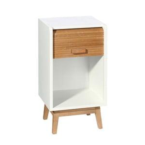 Biało-brązowa komoda drewniana Jess