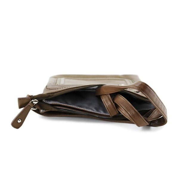 Skórzana torebka Cassandra Taupe