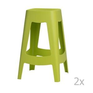 Zestaw 2 stołków barowych D2 Tower, zielone