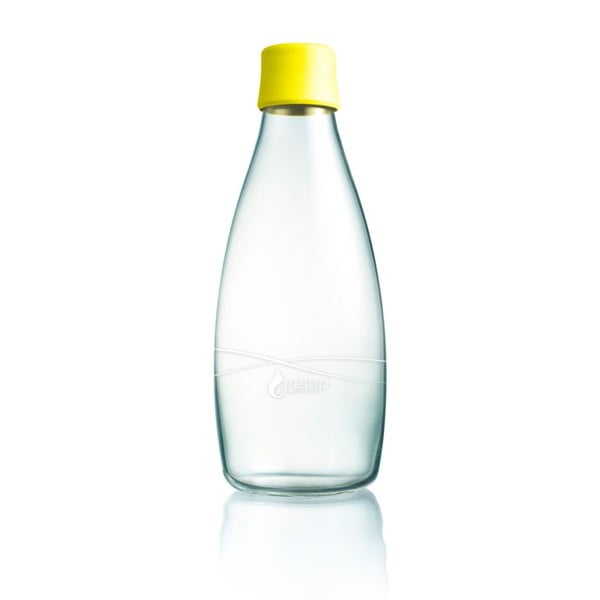 Żółta butelka ze szkła ReTap z dożywotnią gwarancją, 800 ml