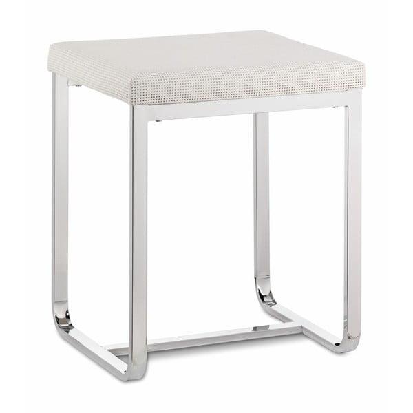 Biały stołek Kela Lorin