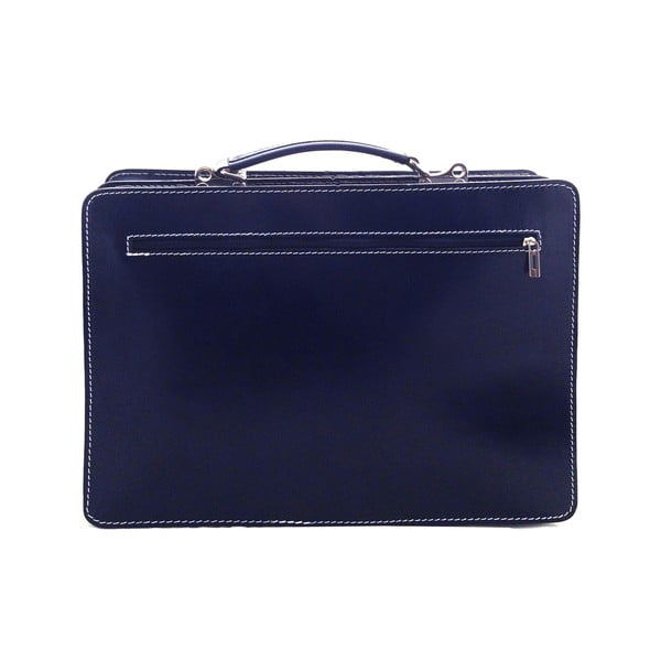 Skórzana torba Cortese, niebieska