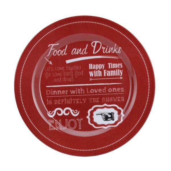 Zestaw naczyń turystycznych Food and Drinks in Red, 3 szt.
