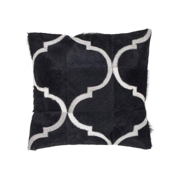 Poduszka skórzana Eclipse Black, 45x45 cm
