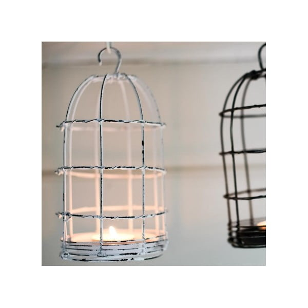 Lampion Bird Cage Light 26 cm, biały