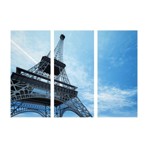 Trzyczęściowy obraz Wieża Eiffla