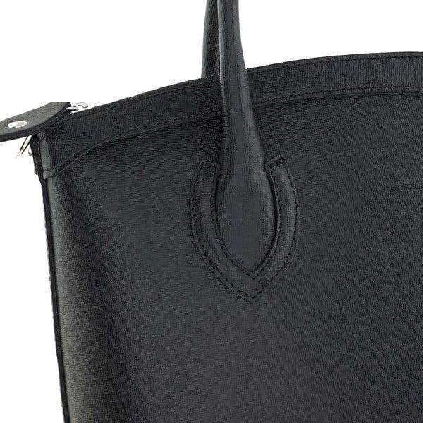 Skórzana torebka Ninety Black