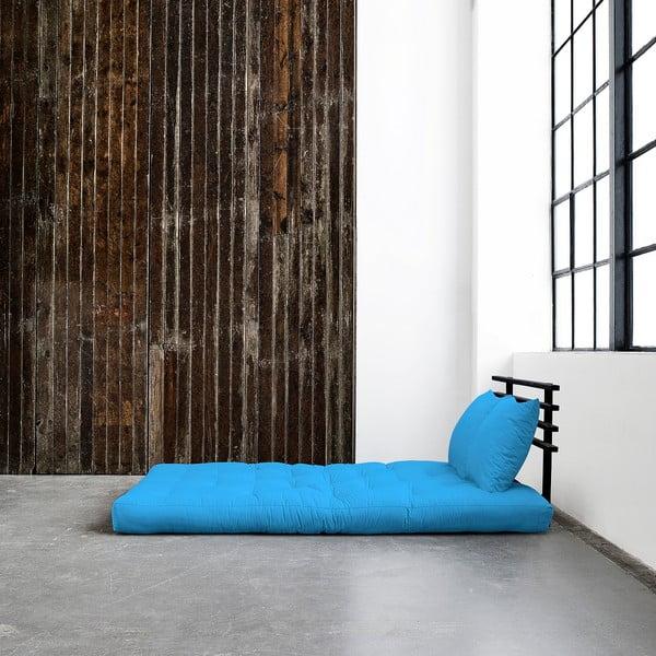 Sofa rozkładana Karup Shin Sano Black/Horizon Blue