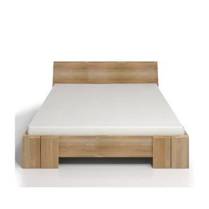 Łóżko 2-osobowe z drewna bukowego ze schowkiem SKANDICA Vestre Maxi, 140x200 cm