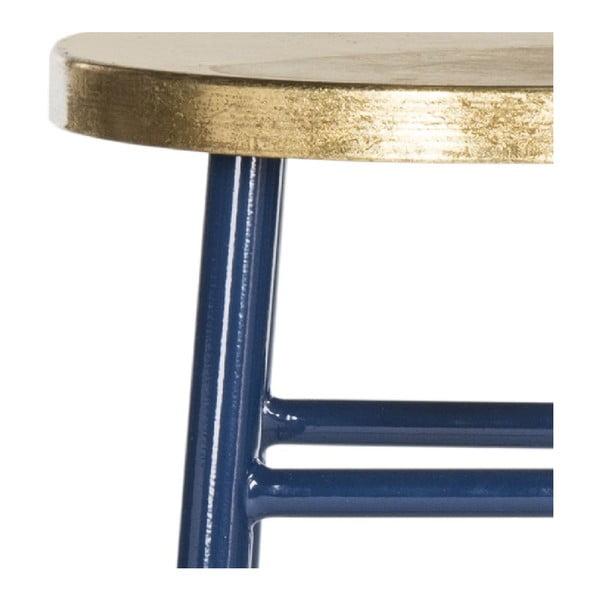 Stołek Counterstool, niebiesko-złoty